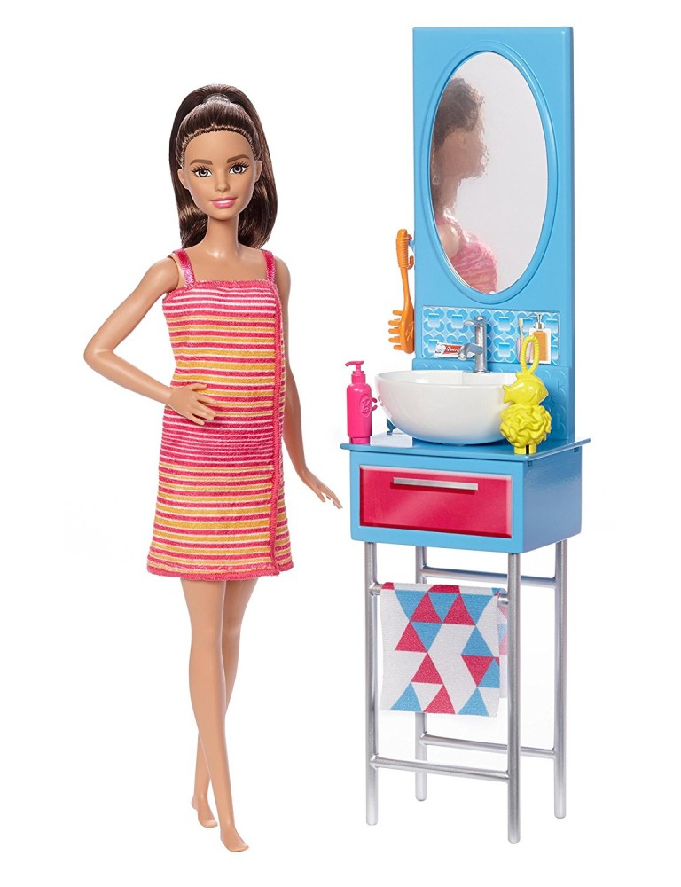 Barbie DVX53 - Il Bagno di Barbie 887961376807- Mondo Copie
