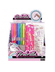 Girabrilla Unicorn Color Me Pencil Case - 8056779025586
