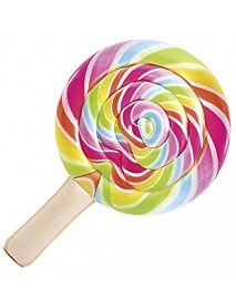Intex 58753 - Materassino Lollipop - Stampa Realistica, Multicolore, 208 x 135 cm - 6941057407555