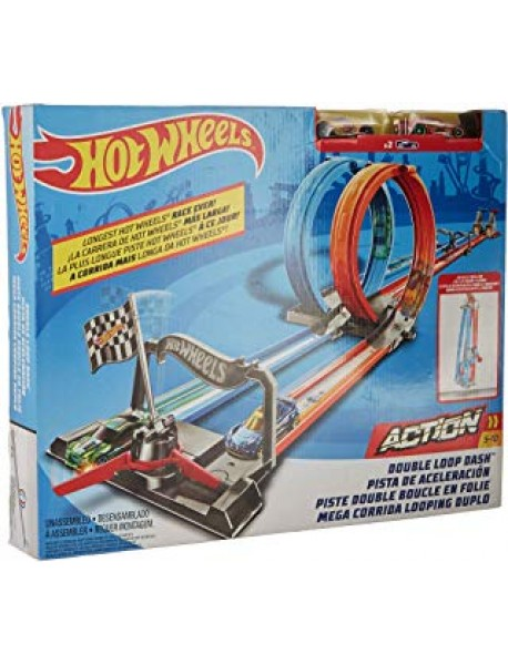 Mattel Hot Wheels Pista da Corsa con 2 Macchinine - Double Loop Dash GFH85-887961762617