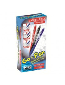 Penna cancellabile niji go-pen a scatto 0.7 mm Nero