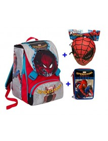 Zaino Spiderman Homecoming new 2017 - zaino sdoppiabile Big Seven - 8011410264540