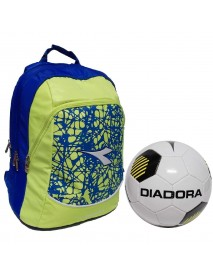 Diadora zaino advanced fluo lime FL2 con pallone - 8018237701265